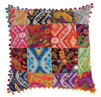 Multi-patch Cushion Cover