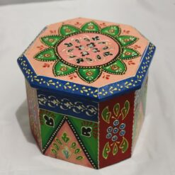 Box - Wooden Hand Painted Octagonal