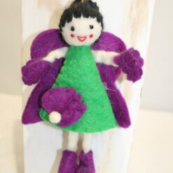 Felt Fairy and Side Flower - 18 x 11cm