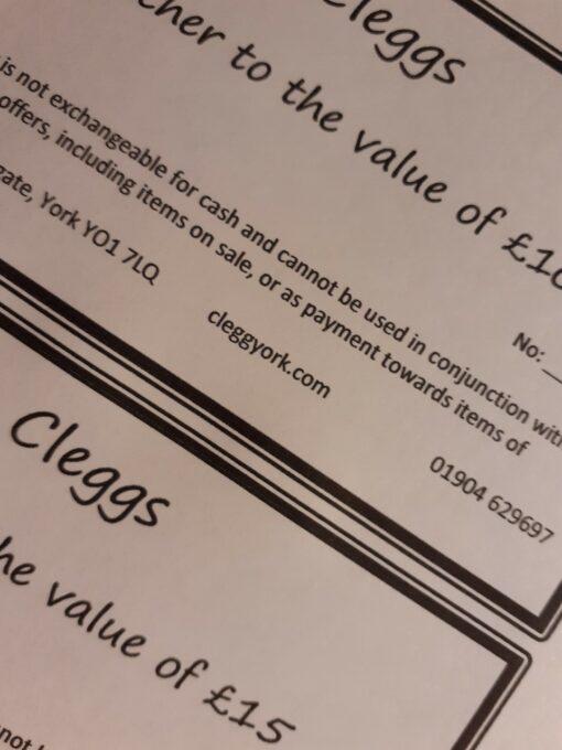 £25 Cleggs gift voucher