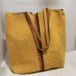 Recycled Cotton Khadi Shoulder Bag - Mustard