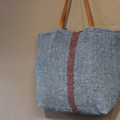 Recycled Cotton Khadi Shoulder Bag - Blue