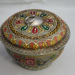 Box - Wooden Hand Painted - Elephant Design