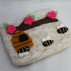Purse - Felt - Beehive Design