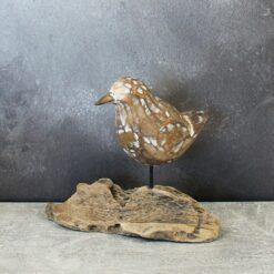 Bird - Bird on Natural Root Base - Natural
