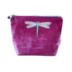 Cosmetic Purse - Lua - Dragonfly Magenta - Large